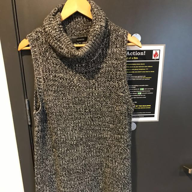 Cowl neck chunky knit dress/tunic