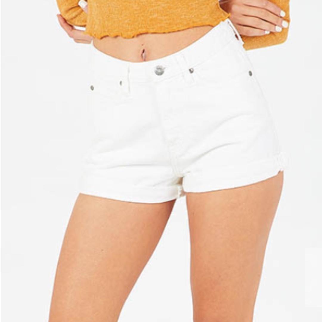 Dr Denim Jenn Shorts White