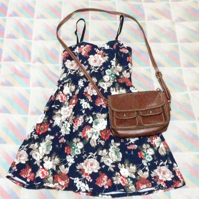 Floral Paded Dress
