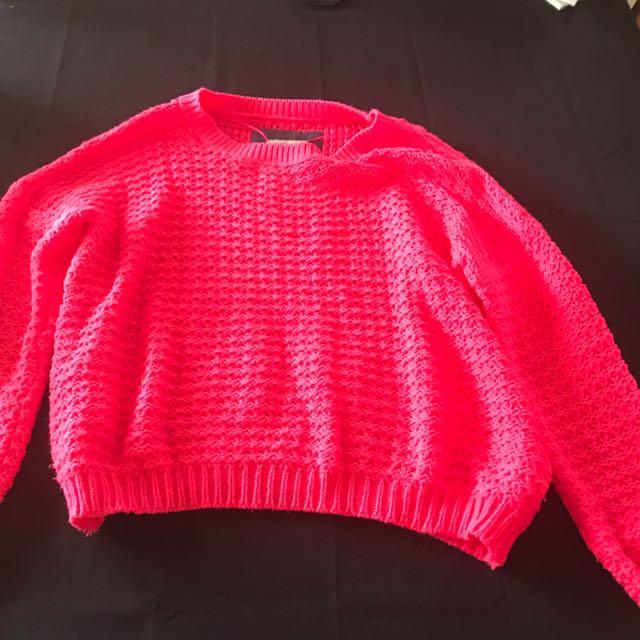 Fluorescent pink jumper
