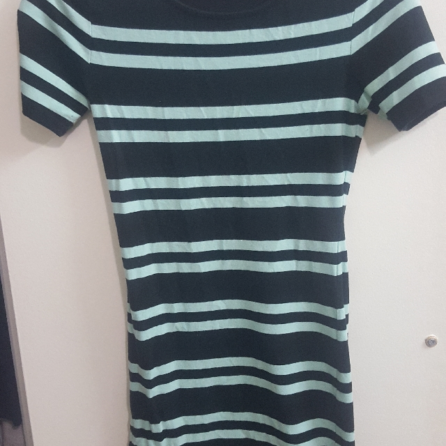 forever21 striped mint bodycon dress