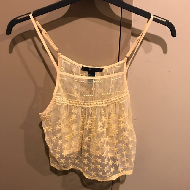 Forever 21 - cute yellow Cami Size s