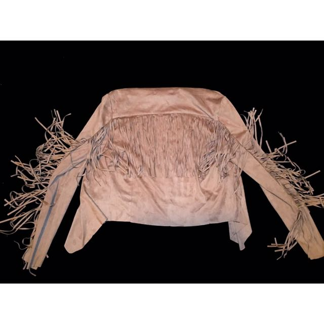 Forever 21 Suede Frill Jacket