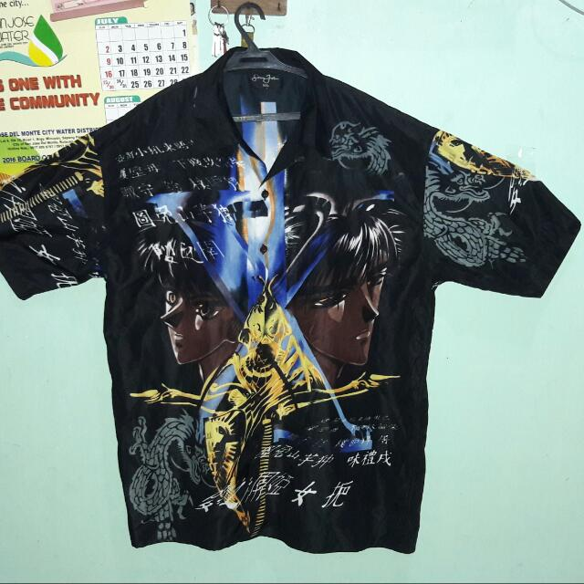 FREE SHIPPING! Anime Silk Polo Shirt