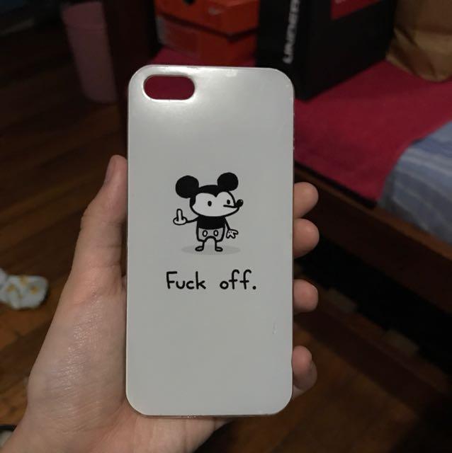Fuck Off iPhone 5/5s/SE Case