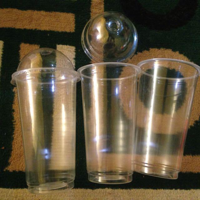Gelas Plastik ( Cup 22 Oz) + Tutup