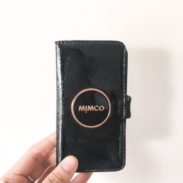 Genuine Black Leather Mimco Case for iPhone 5