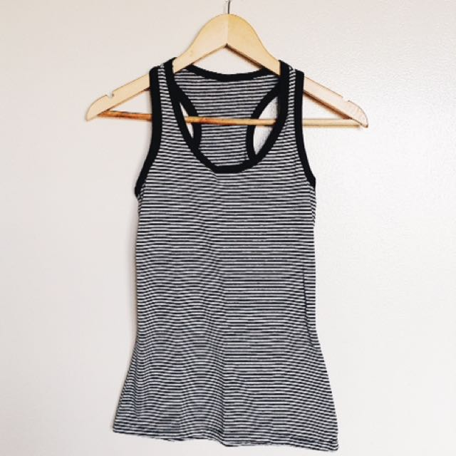Gray Striped Tank Top