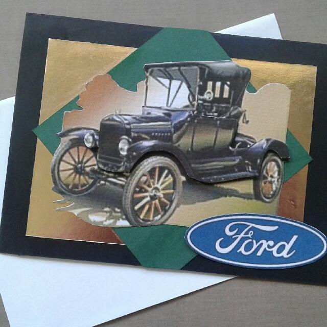 Handmade Ford Model T Card