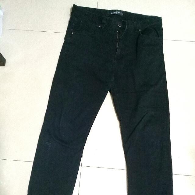 男生hang ten休閒長褲,二手工作褲,黑色長褲