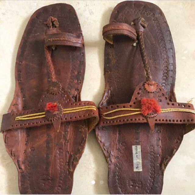 Indian hand crafted leather sandals