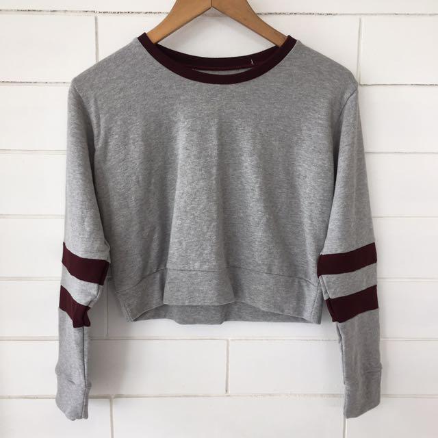 Jersey Crop Pullover