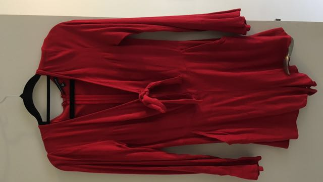 Kendall and Kylie red playsuit