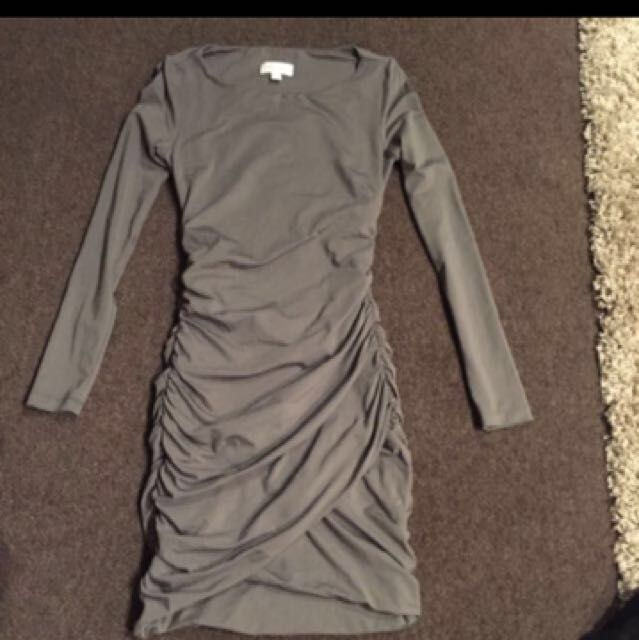 Kookai Khaki Bodycon Dress