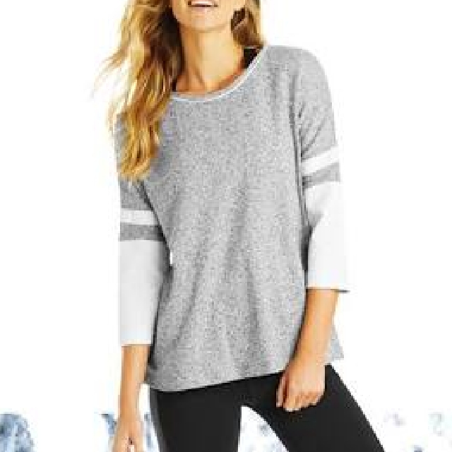 Lorna Jane Grey Marl Long Sleeve Size S