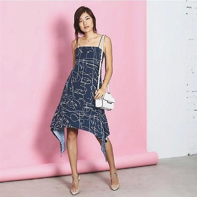 Love Bonito Patterned Blue Dress