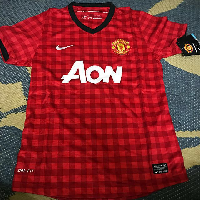 6fc1d144ef0 Manchester United 2012 2013 Nike Home Jersey (Replica)