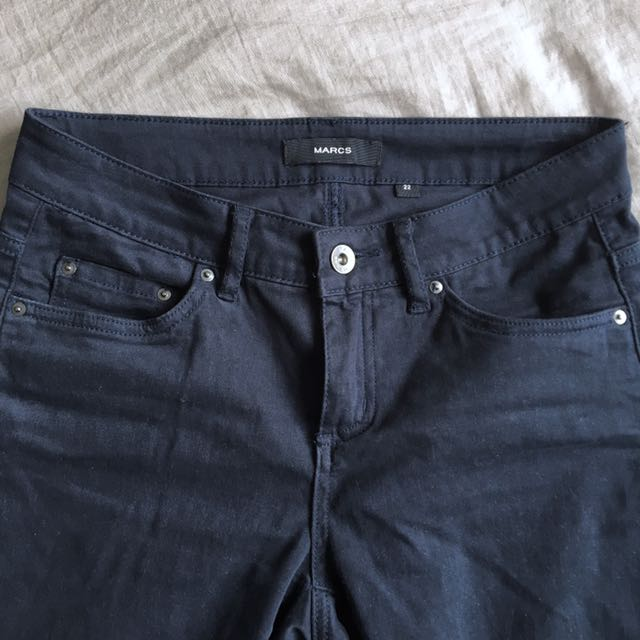 Marcs navy chino pants jeans