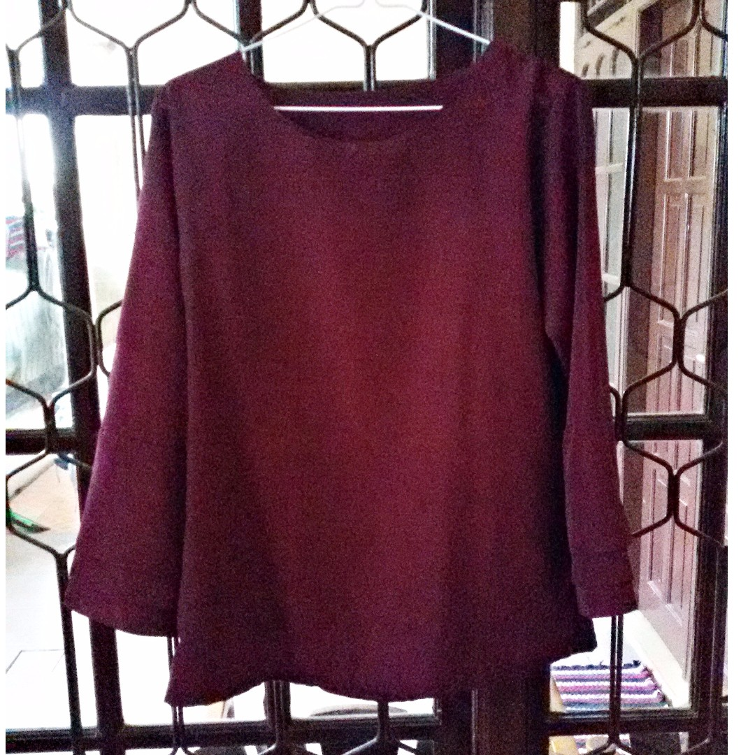 Maroon (Burgundy) Blouse