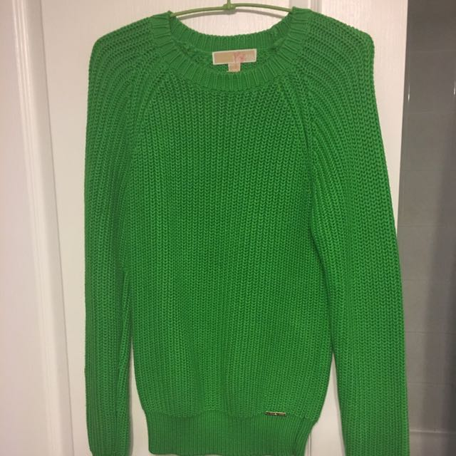 Micheal Kors lime green sweater