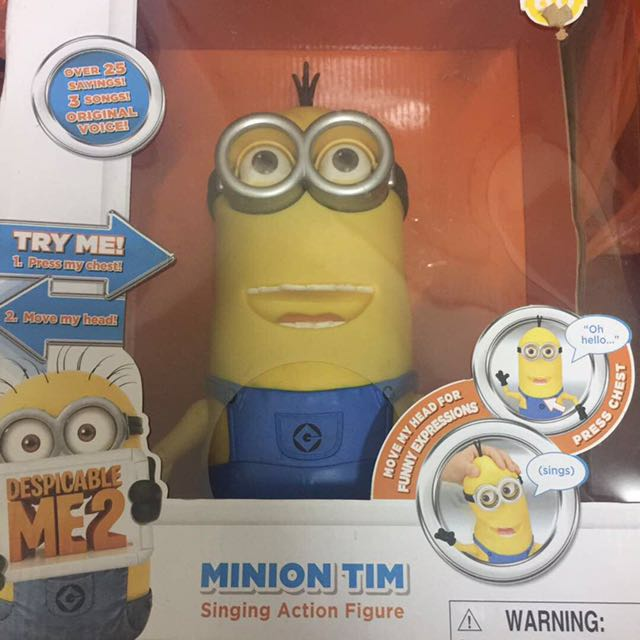 Minion Tim Singing Action Figure
