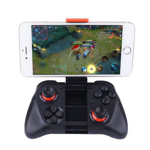 Mobile Phone Game Controller MOCUTE Android IOS Joystick Bluetooth  Controller Selfie Remote Control Shutter Gamepad for PC Smart Phone + Holder