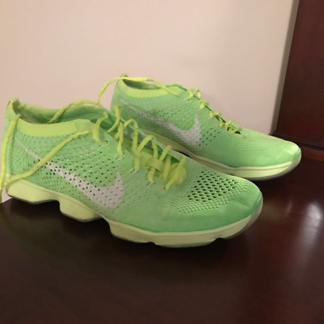 New lime green Nike shoes