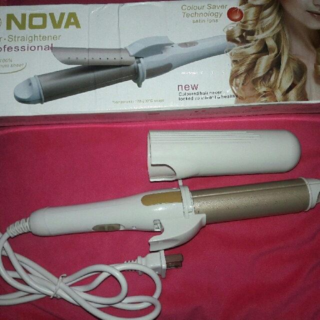 (Repriced) Nova 2 in 1 hair straightener & curler