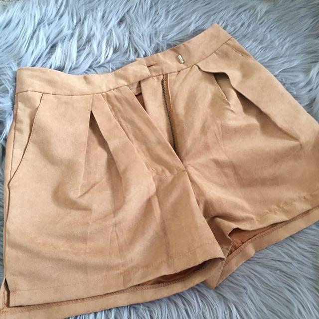 Nude shorts size 6