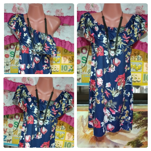 Off - Shoulder Floral Dress