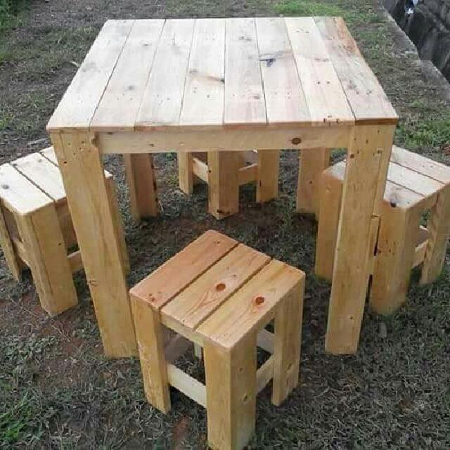 Perabot Kayu Pine Pallet Home