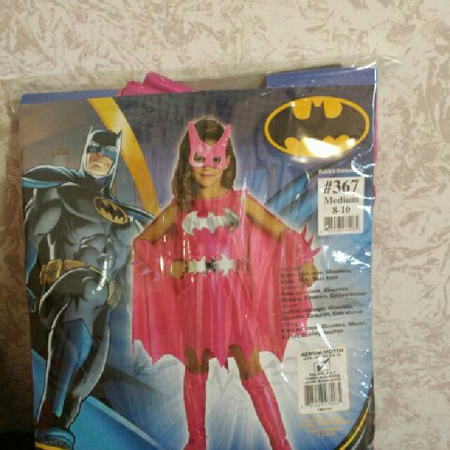 Pink Batgirl Costume. Size medium