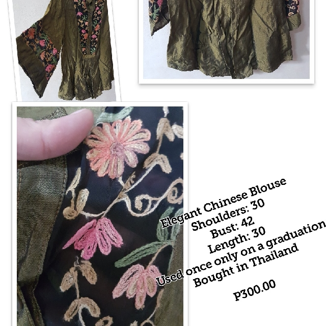 Plus Size Chinese Blouse