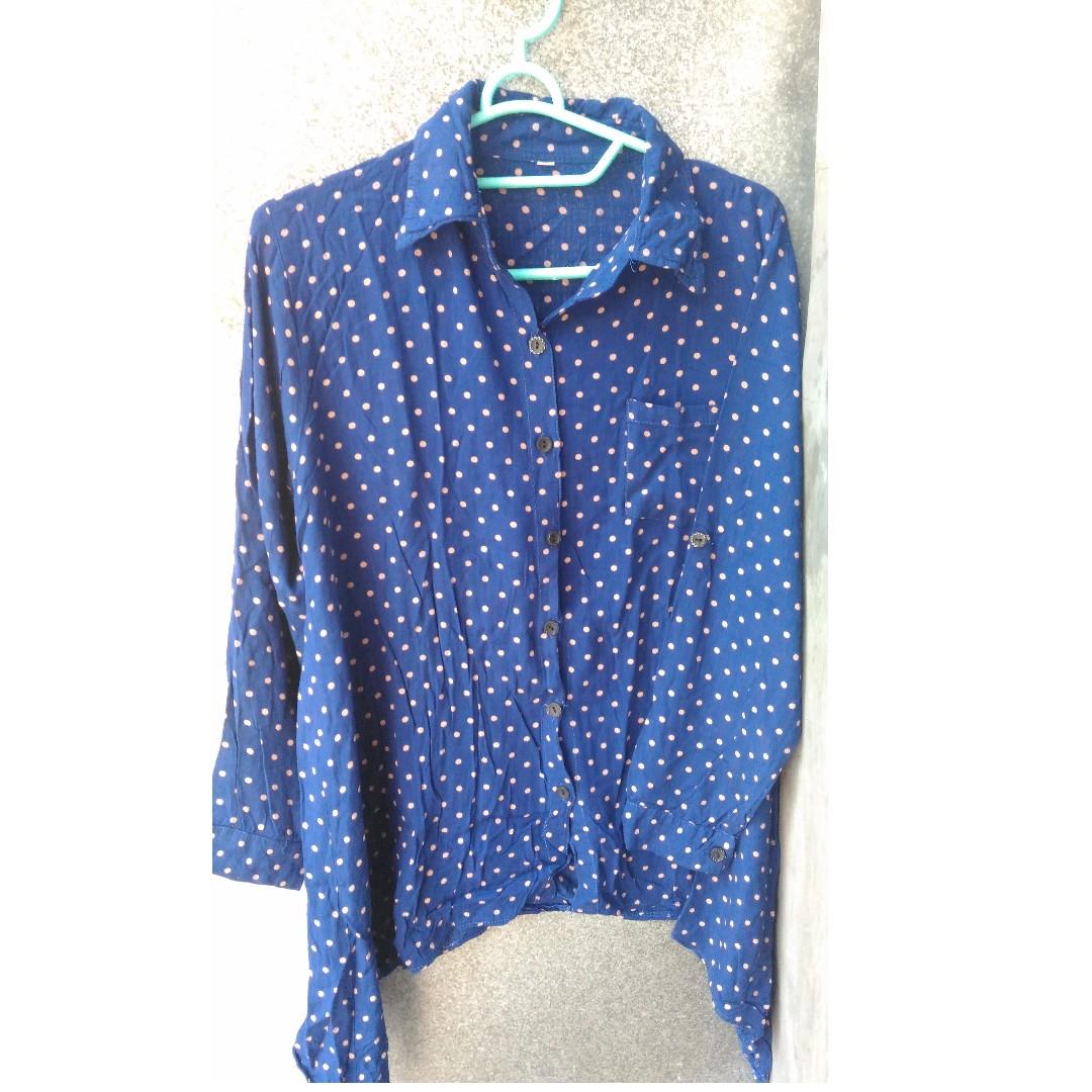 Polka navy blouse