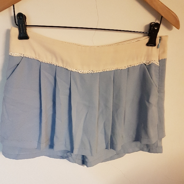 Poone粉藍色兩面不同設計 褲裙