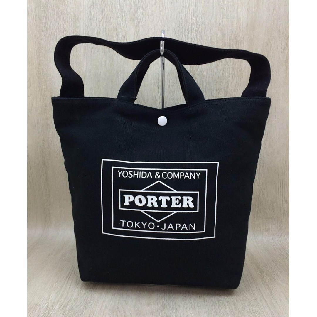 92b9a08289 PORTER Tote bag   canvas   BLK MEN WOMEN (SHIP FROM JAPAN)