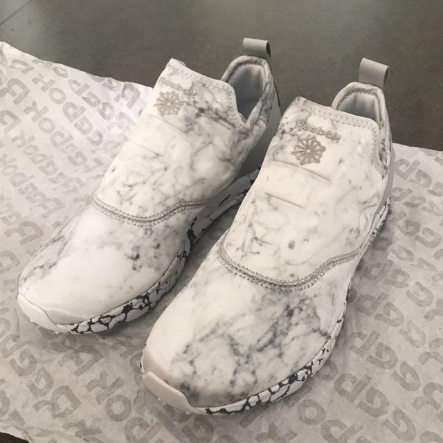 fdb0f23a2d7 Reebok Furylite Slip Womens White Marble Sneakers US7.5 EUR 38 ...