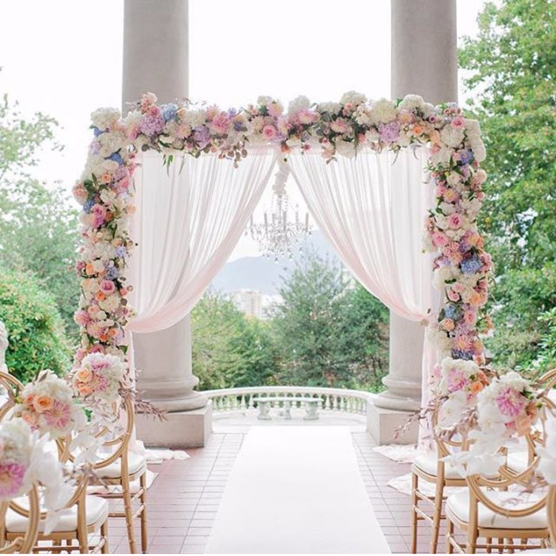 Rom wedding arch design craft others on carousell for Au jardin singapore wedding