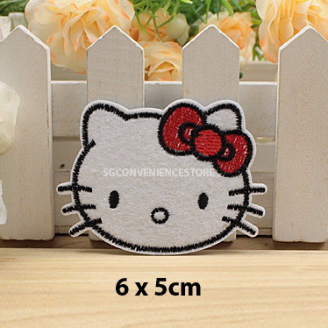 f13715128 Sanrio Hello Kitty DIY Iron on / Sew on Fabric Embroidery Applique Patch,  Babies & Kids, Girls' Apparel on Carousell