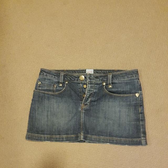 sass & bide mini denim skirt size 28 (used)