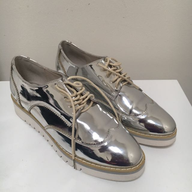 Seed Silver Brogues Size 38