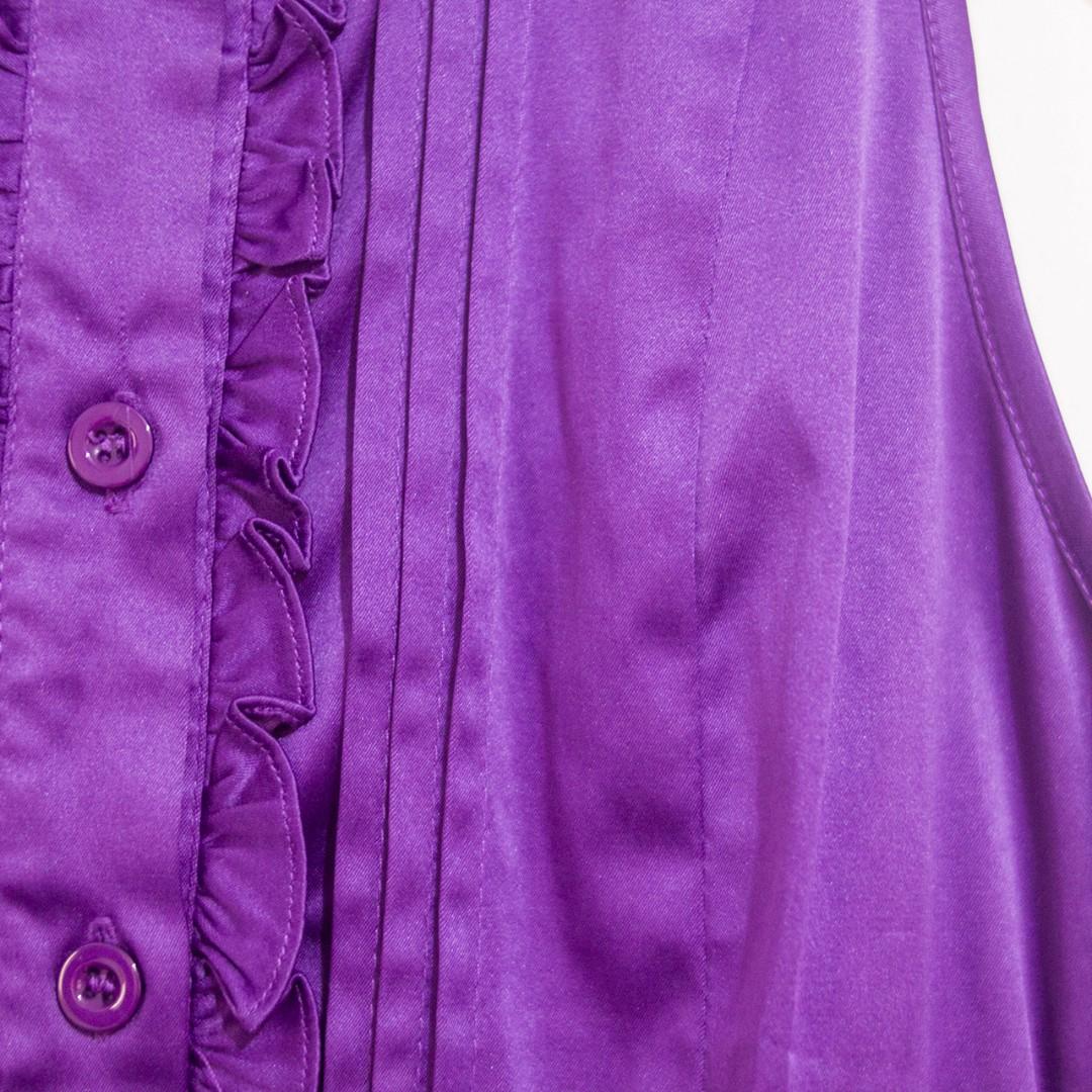 Sleeveless Mini Dress Formal Warna Ungu Mix Hitam   Party Dress   Dress Pesta