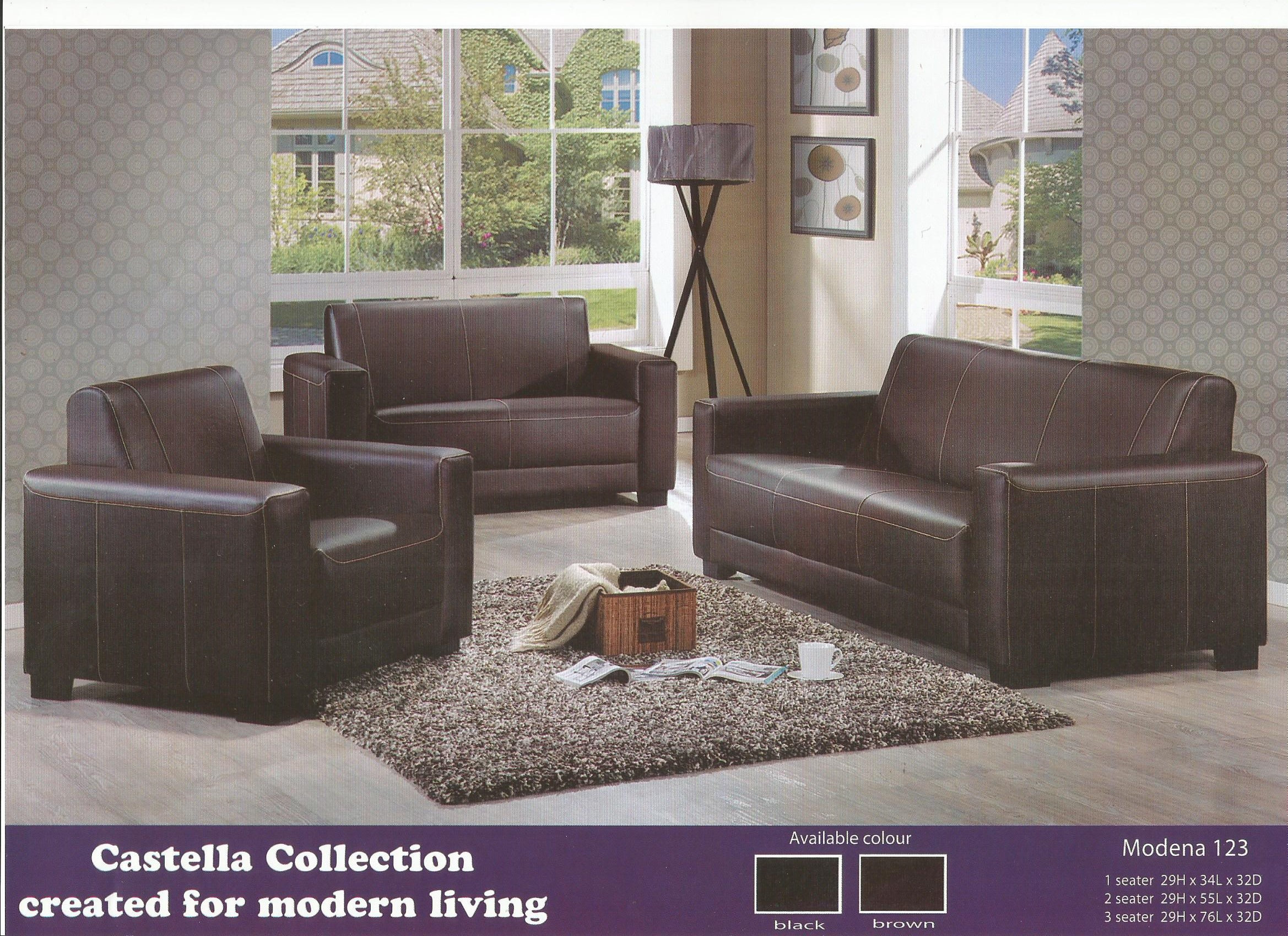 SOFA SET MURAH MODEL MODENA 123 1 2 3 SET Home & Furniture Furniture on Carousell