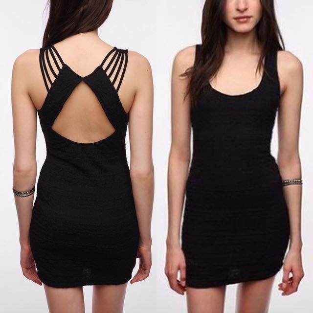 Sparkle & Fade black bodycon dress (m)