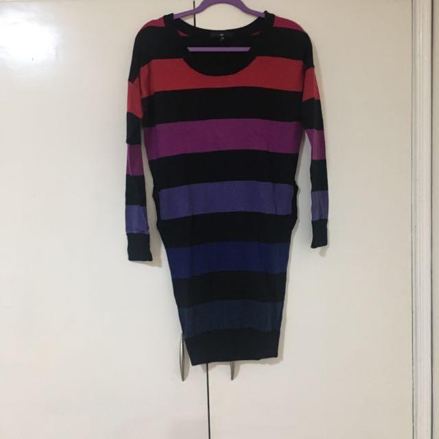 Stripes Knit Dress