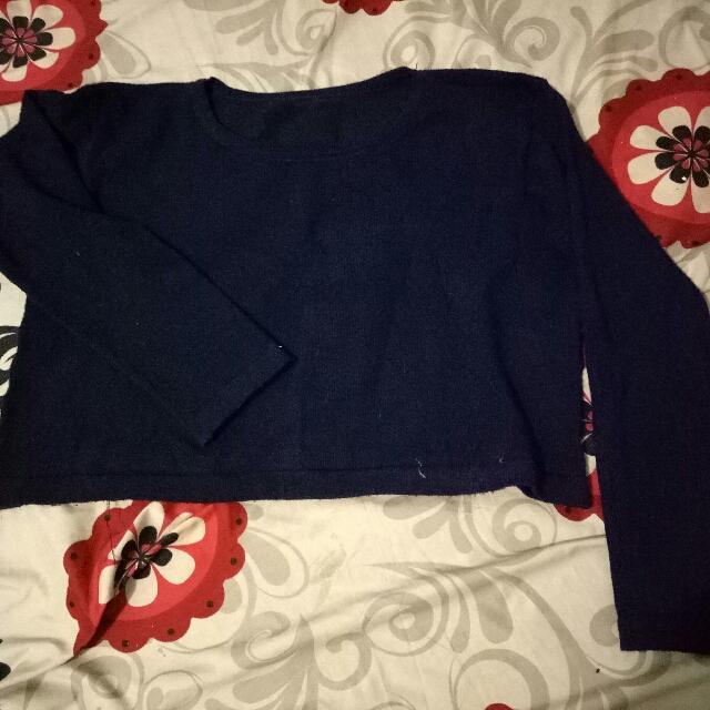 Sweater Crop navy