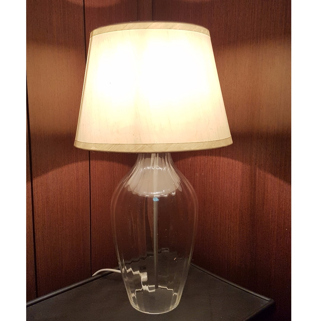 Table lamp glass base home furniture home decor on carousell photo photo aloadofball Image collections