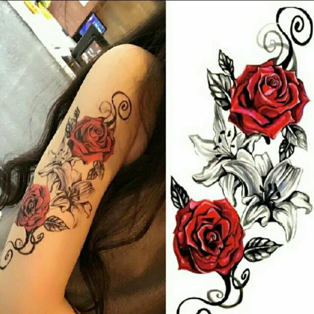 Tattoo Temporary Big Rose