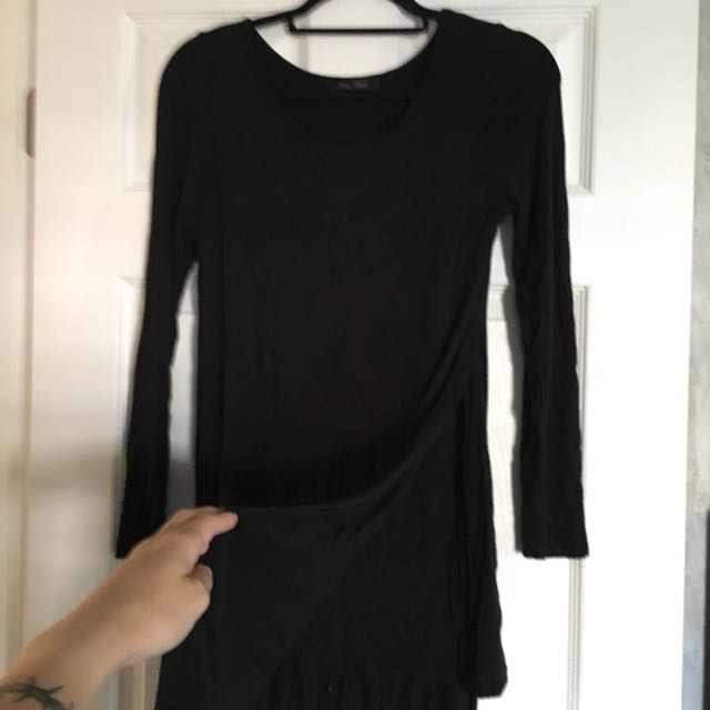 Urban Outfitters black dress with slits size S