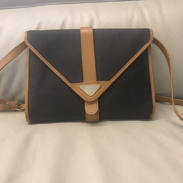 Vintage Ysl Sling Shoulder Bag In Immaculate Condition 159 Luxury